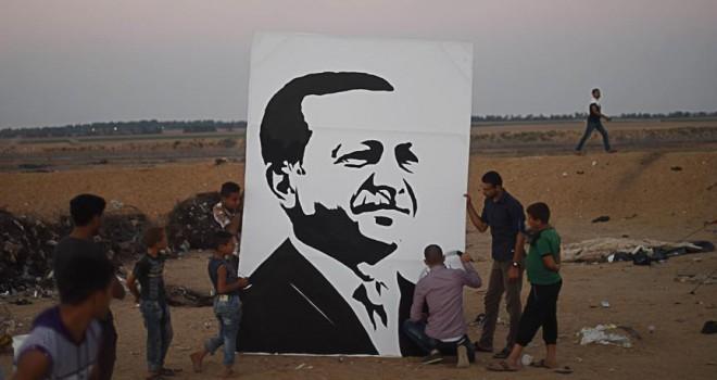 Gazzeli ressamın Erdoğan sevinci