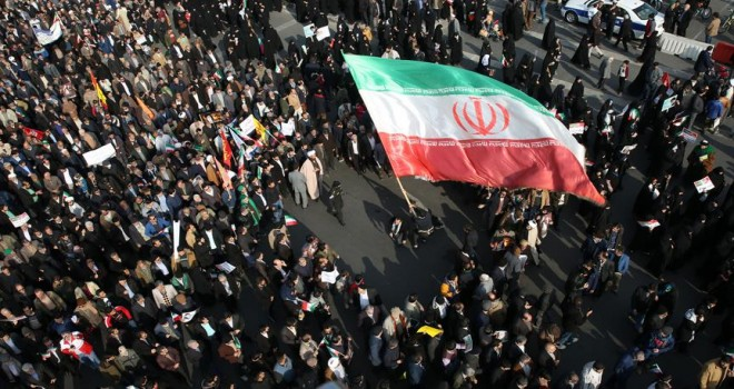 İran'daki protesto gösterildi