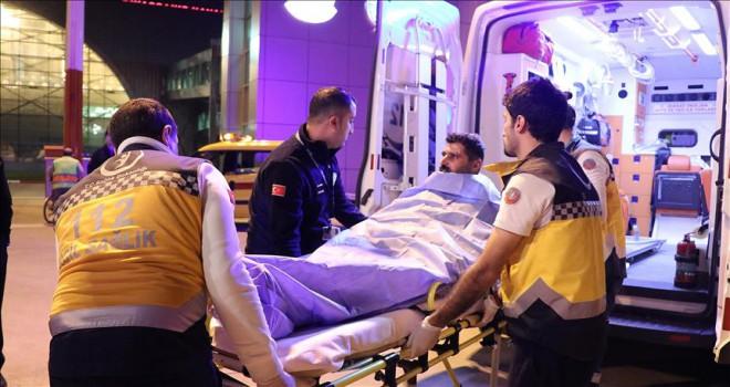 İş kazasında yaralanan işçi Türkiye'ye getirildi