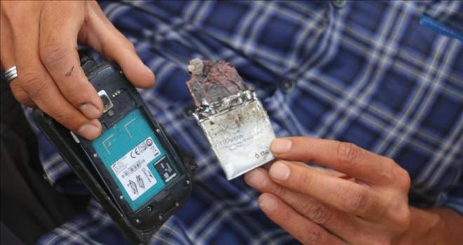 Cebinde cep telefonu patlayan kişi tedavi altına alındı