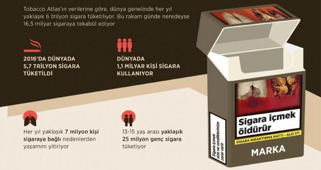 6 trilyon sigara tüketiliyor