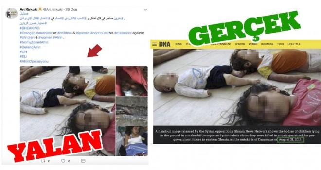 Esed'in katliam fotoğrafları 'Afrin yalanları'na malzeme oluyor