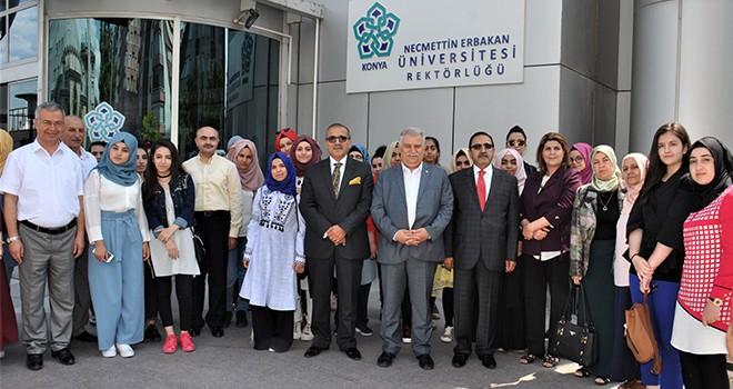 Irak'lı öğrenciler NEÜ'de  incelemelerde bulundu