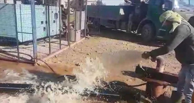 Tel Abyad'daki su kuyuları yeniden kullanılır hale getirildi
