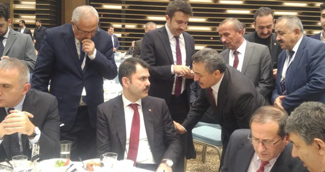 Başkan Tutal 'danBakan Kurum'a teşekkür