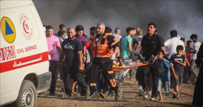 Gazze'de göstericilere 'öldürücü' nitelikte saldırılar