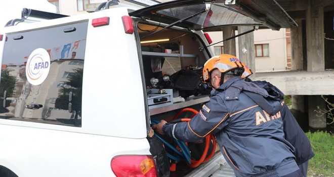 Bolu'da deprem tatbikatı yapıldı