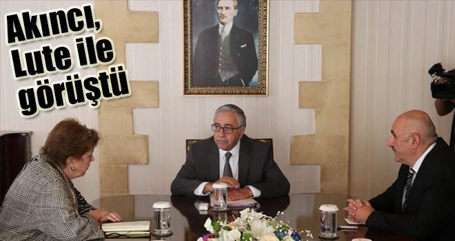 KKTC Cumhurbaşkanı Akıncı, Lute ile görüştü