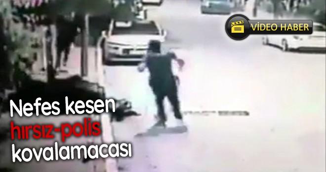 Nefes kesen hırsız polis kovalamacası kamerada