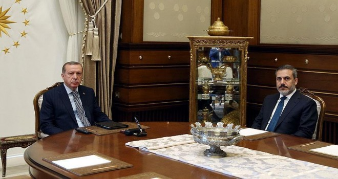 Erdoğan, MİT Müsteşarı Fidan'ı kabul etti