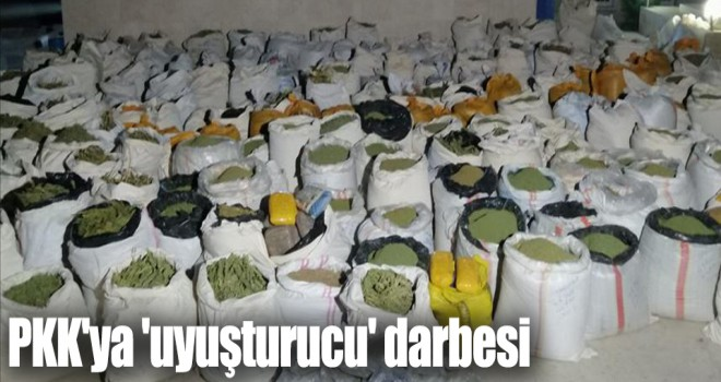 PKK'ya 'uyuşturucu' darbesi