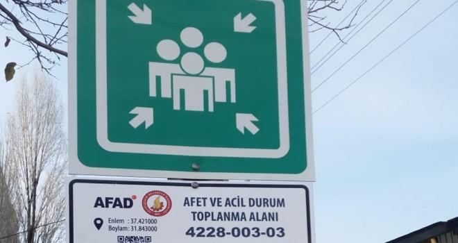 Seydişehir'de afet toplanma alanları