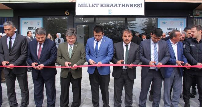 Ahırlı'da Millet Kıraathanesi açıldı