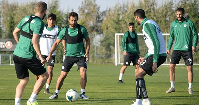 Konyasporda Gençlerbirliği maçı hazırlıkları