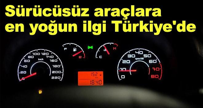 Sürücüsüz araçlara en yoğun ilgi Türkiye'de