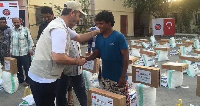 TİKA'dan Yemen'e iftar ve gıda yardımı