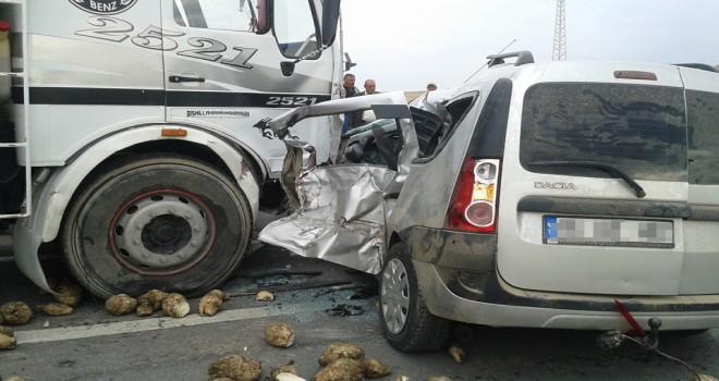 Yunak'ta trafikkazası