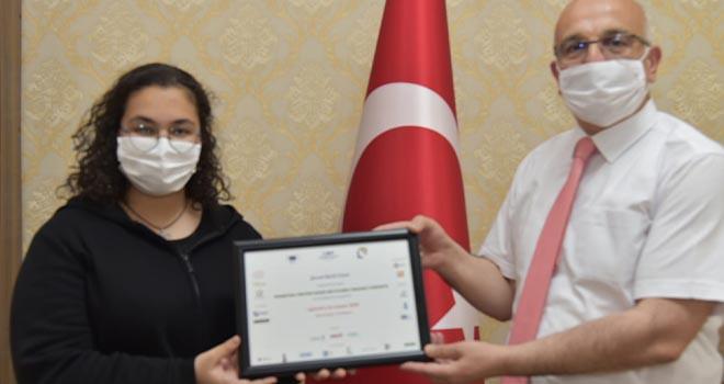 Lise öğrencisinden uluslararası başarı