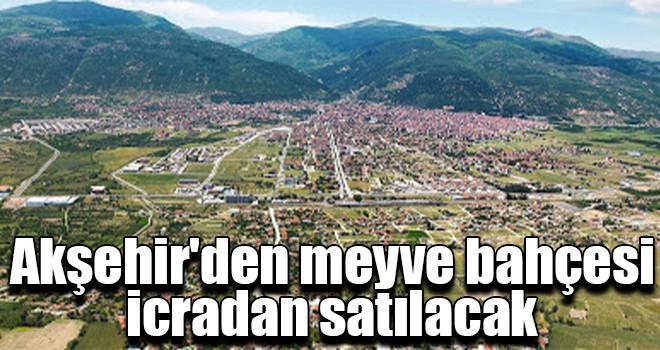 Akşehir'den meyve bahçesi icradan satılacak