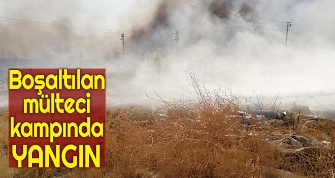Boşaltılan mülteci kampında yangın
