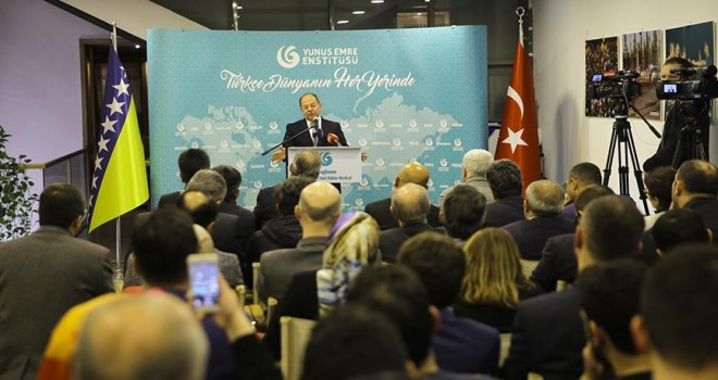 Başbakan Yardımcısı Saraybosna'da Türklerle bir araya geldi