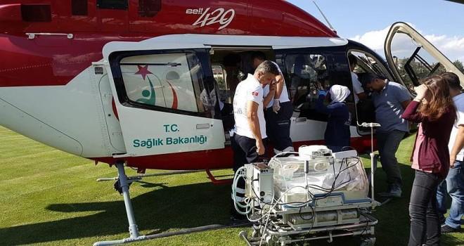 Helikopter bebek için havalandı