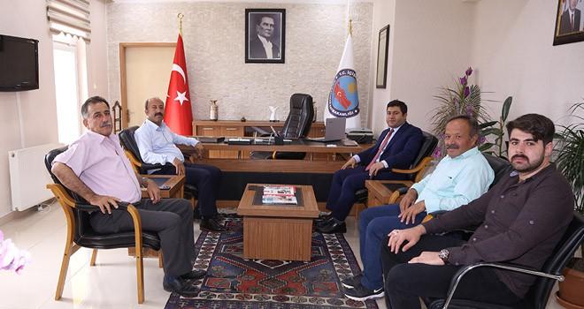 Bakkal'dan Kaymakam  Bozkurtoğlu'na ziyaret