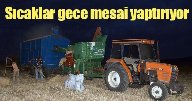 Kavurucu sıcaklar çiftçilere gece mesai yaptırıyor